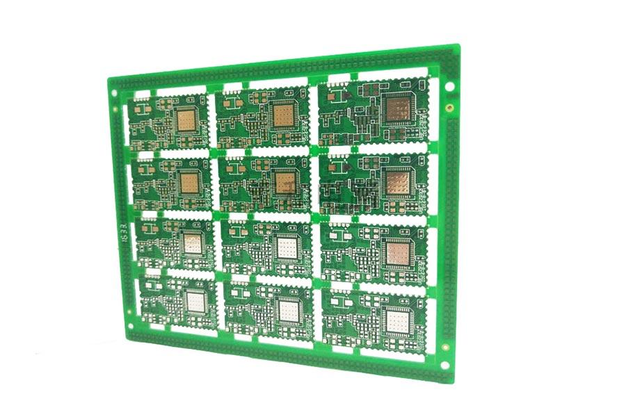 4 layer LF-HASL half hole PCB