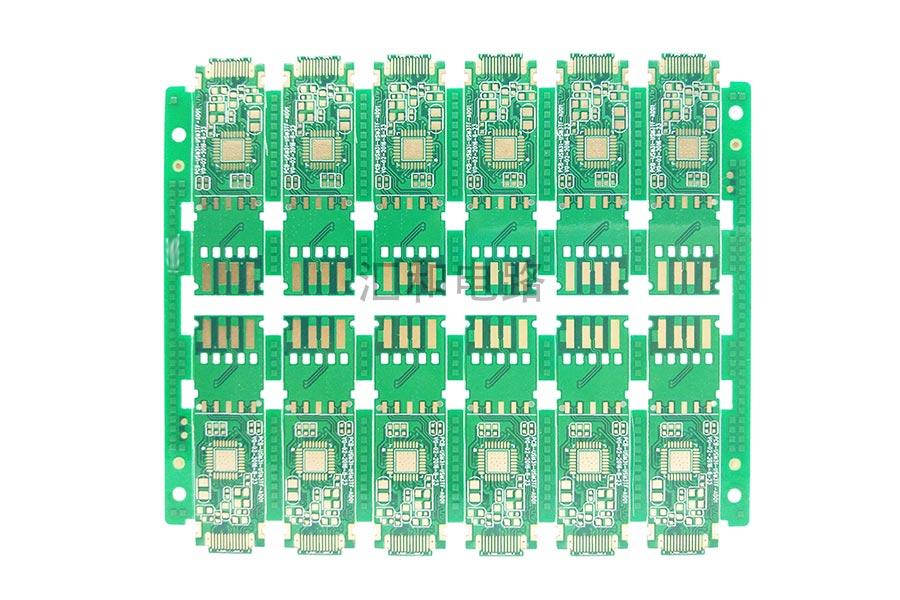 4 layer ENIG impedance control half hole PCB electric circuit board