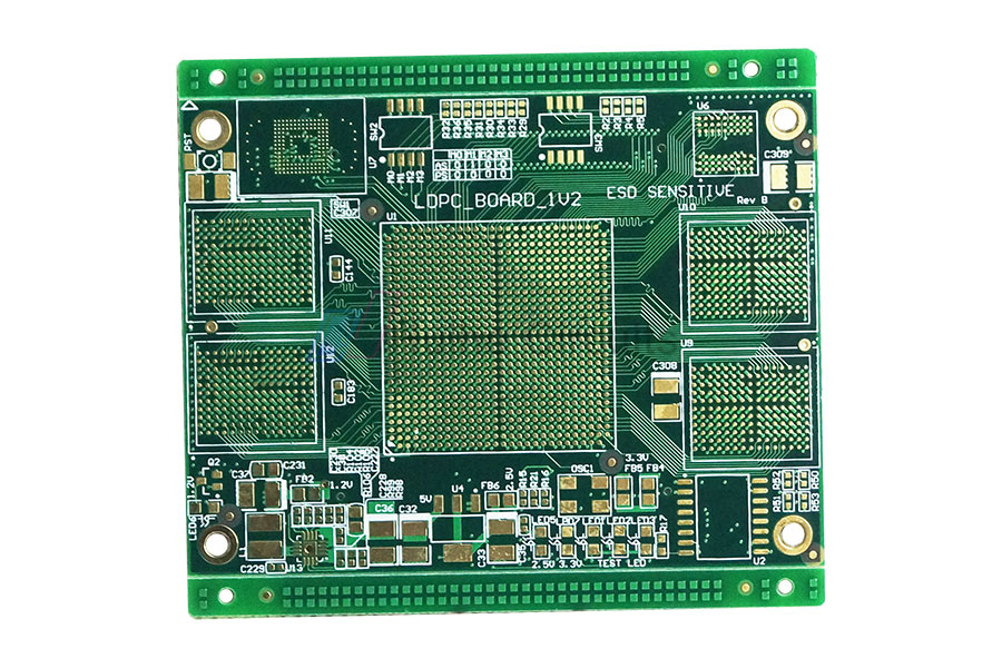10 Layer Impedance Control Resin Plugging PCB