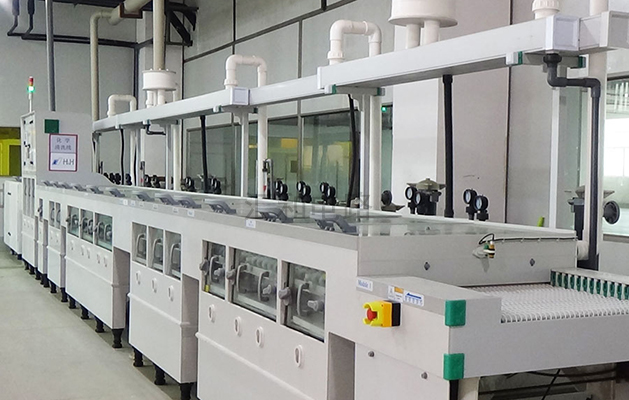 Chemical cleaning line