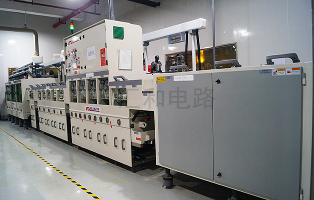Outer circuit developing machine